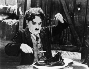 Charlie Chaplin in the Shoe-Eating Scene from .
