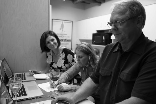 DVW Narrators unite! Voice talent Arran Henn, Paula Hoffmann and Russ Froese try their hand with the writing side of the process